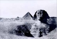 The Great Sphinx of Giza by Maxime Du Camp, 1849, taken when he traveled in Egypt with Gustave Flaubert.