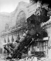 Train wreck at Montparnasse (October 22, 1895) by Studio Lévy and Sons