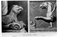 True and False Griffins for John Ruskin's Modern Painters (Part IV. Of Many Things), first published in 1856.