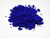 Blue of the ultramarine variant, similar to the International Klein Blue used by Yves Klein