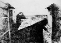 View from the Window at Le Gras is one of Nicéphore Niépce's earliest surviving photographs, circa 1826.