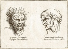 Illustration in a 19th century book about physiognomy