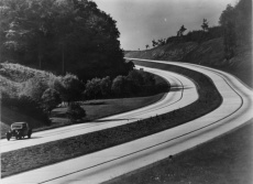 A German autobahn in the 1930s